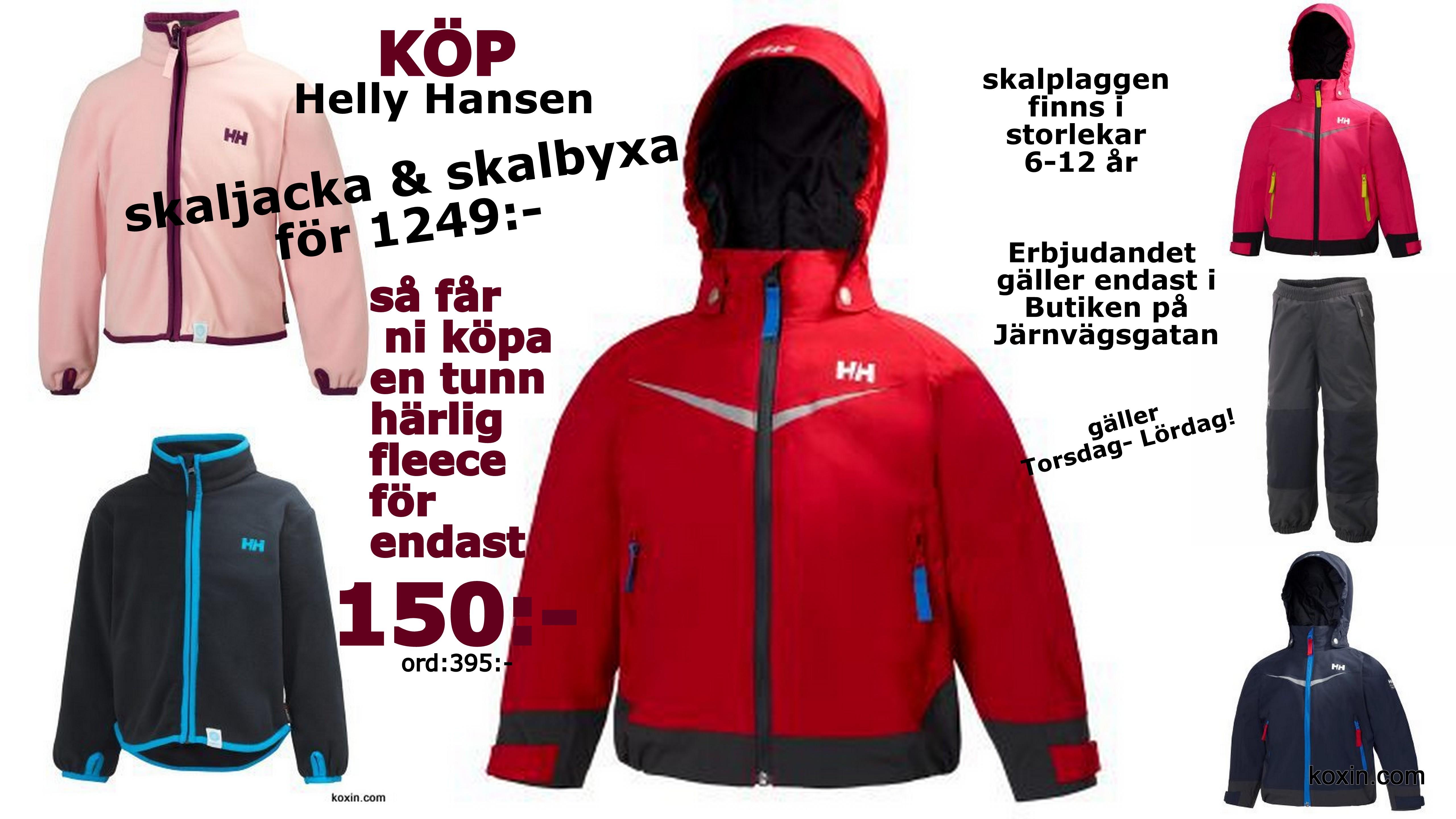 Erbjudande :Helly Hansen för barnkläder